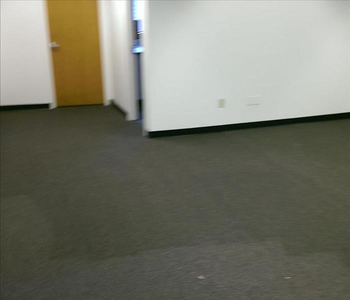 Water Damaged Offices in Fontana, CA Before